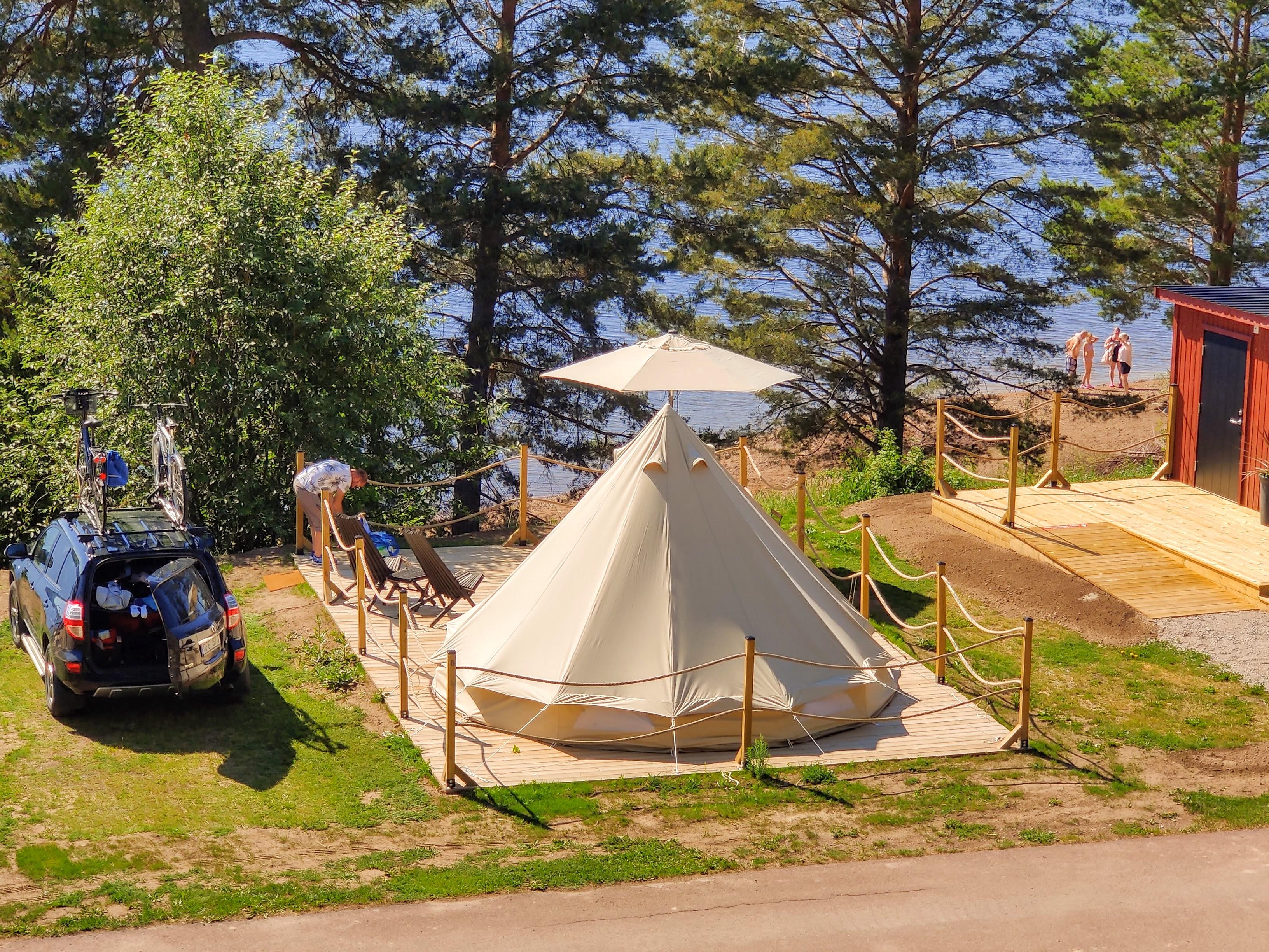 Testpatrullen testar Glamping på Leksand Resort | Visit Dalarna