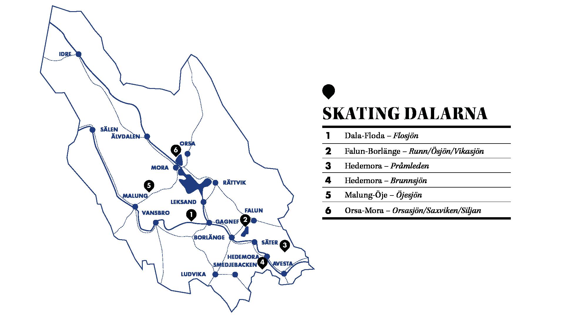 Karta Borlange.Skating Dalarna Visit Dalarna