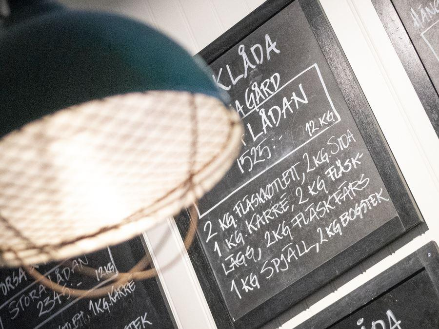 Menus on blackboard.s.